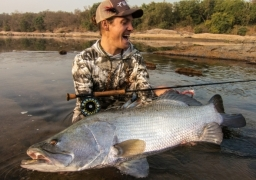 Nile Perch on Fly